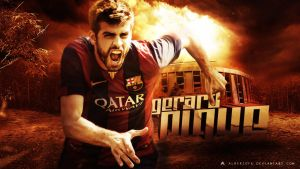 Gerard Pique Wallpaper 2014/15 by AlbertGFX