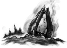 Deathwatch:  Rising Tempest Drop Pod by cronevald
