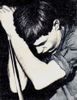 Ian Curtis by MechanicalCretin