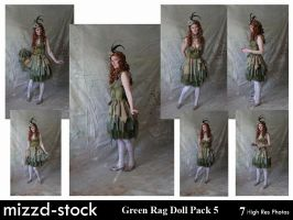 Green Rag Doll Pack 5 by mizzd-stock