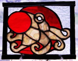Japanese Flag Octopus by GhostyBoo