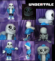 Undertale Sans Plush by Skeleion