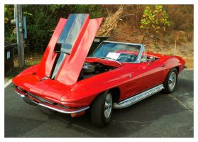 Nice Red Corvette by TheMan268