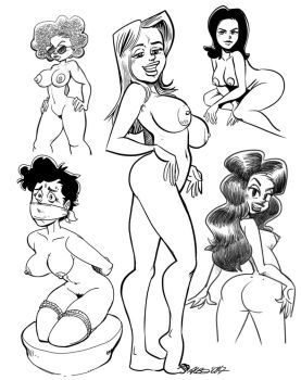 Many pin-ups, many styles by albonet