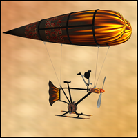Anti Gravity Flying Machine 4 by Stock-by-Dana