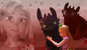 Rapunzel and Toothless Friendship by x12Rapunzelx