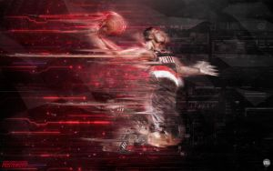 Damian Lillard Blazers Wallpaper by Angelmaker666