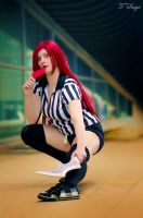 Red Card Katarina - League of Legends by GloomyElls
