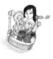 the three sannin in a tub by redblacktac
