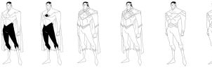 Superman Redesign Lines by PioPauloSantana