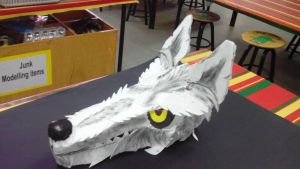 Wolf mask/headpiece by Loulabell30