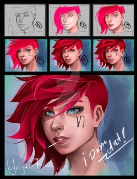 step by step vi. league of legends by Art-Jara