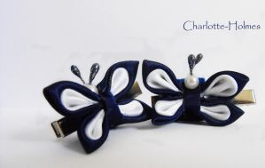 Butterfly Kanzashi by Charlotte-Holmes