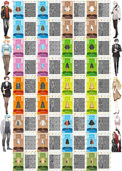 Mystic Messenger Character Outfit QR Codes by ACNL-QR-CODEZ