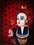 Queen of Hearts Alice in Wonderland by NadineSabbagh