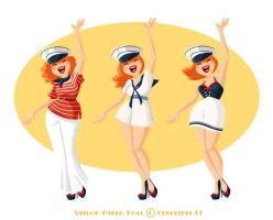 Sailor Paper Doll by GenevieveFT
