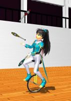 MMD accs: juggling clubs and the unicycle by JamieTH