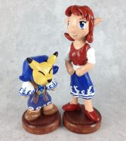 Anju and Kafei Sculptures by LeiliaClay