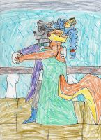 Sly and Carmelita dancing in the rain by trexking45