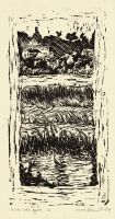 marsh with egret print by skiface