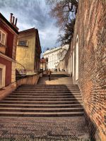 Prague street by FrantisekSpurny