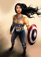 Princess Avengers: CAPTAIN AMERICA by Christopher-Stoll