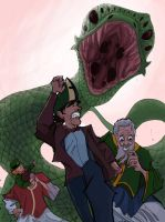 St. Patrick and The Doctor by Jorell-Rivera