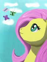 Fluttershy profile by Oregani