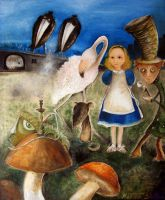 Bird Migration In Wonderland by Monica-Blatton