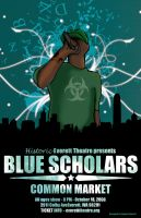 Blue Scholars concert poster by genecapone