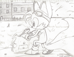 Tails at Spagonia U. Sketch by ADSHedgehog