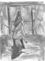 Charcoal Pyramid Head by DelightfulDementia