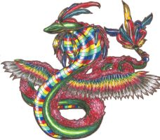 Quetzalcoatl by chostopher