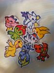 Digimon Stickers :FOR SALE: by LordBoop