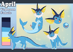 Vaporeon Ref - April by Tartii