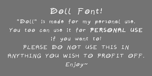 Doll Font by PterrorPterodactyl