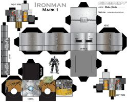 Iron man cubeecraft - mark 1 by melopruppo