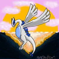 ...Lugia Sunset lol by Canine-Wild