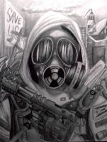 Gas mask dude by idont0know