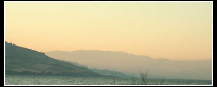Sunset on Tiberias by dasher