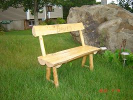 Log Bench by guitardude1616