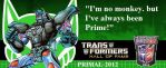 Optimus Primal hall of fame 2012! by blackout501st