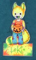 Loki Halloween badge by zirio