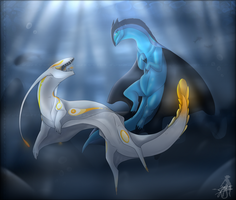 -Underwater play- AT by ClockworkRavens