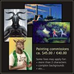 Commission examples: digital painting  by Dahtamnay