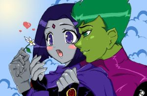 Flower for you by Doddle-bug by teentitans