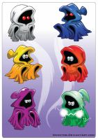 Cartoony Ghosts by Veinctor