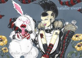 Punk Alice and White Rabbit by natamon