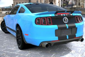 Customized shelby mustang gt500 by NightmareRacer85