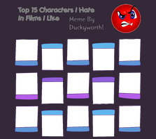 Top 15 Characters I Hate In Films I Like Blank by Duckyworth